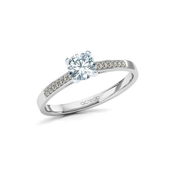 Verlobungsring Diamantring 0,57 ct. G SI & tw, si Weißgold 585