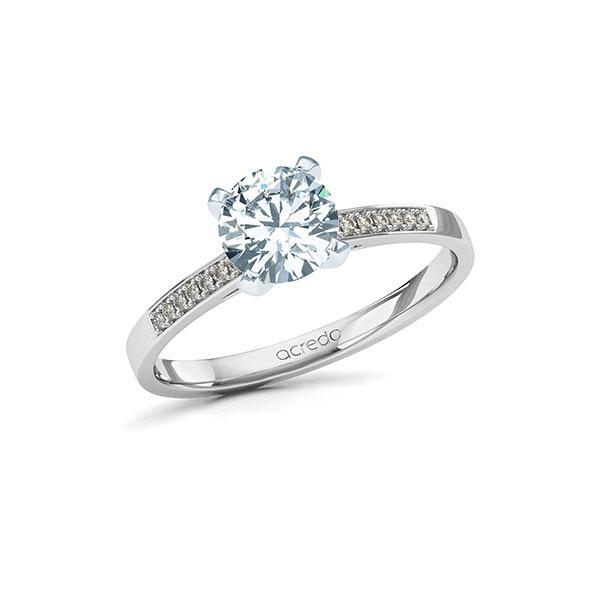 Verlobungsring Diamantring 1,07 ct. G SI & tw, si Weißgold 585
