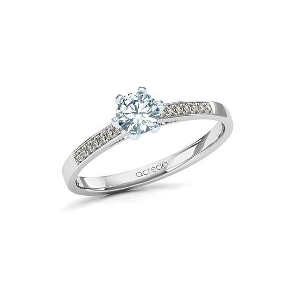 Verlobungsring Diamantring 0,47 ct. G SI & tw, si Weißgold 585