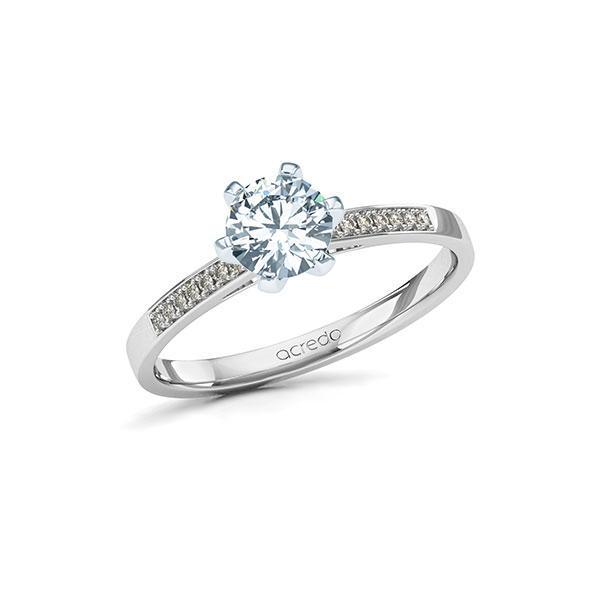 Verlobungsring Diamantring 0,77 ct. G SI & tw, si Weißgold 585