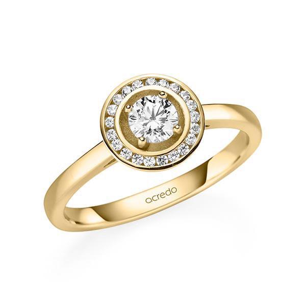 Verlobungsring Diamantring 0,405 ct. G SI & tw, si Gelbgold 585
