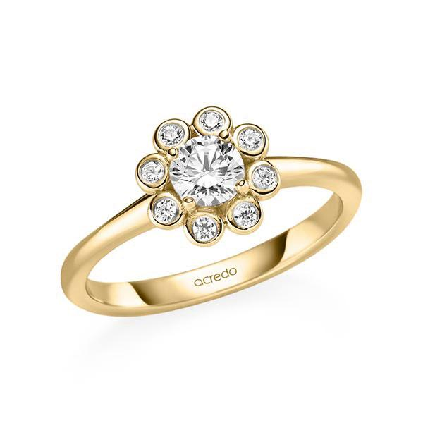 Verlobungsring Diamantring 0,52 ct. G SI & tw, si Gelbgold 585