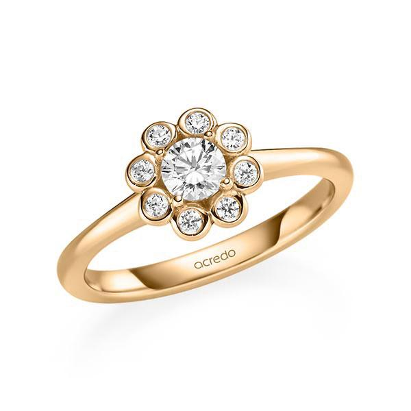 Verlobungsring Diamantring 0,42 ct. G SI & tw, si Roségold 585