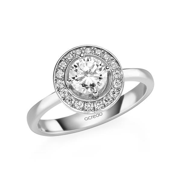Verlobungsring Diamantring 0,88 ct. G SI & tw, si Weißgold 585