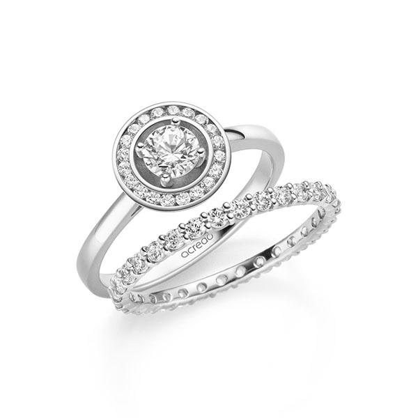 Verlobungsring Diamantring 0,56 ct. G SI & tw, si Weißgold 585