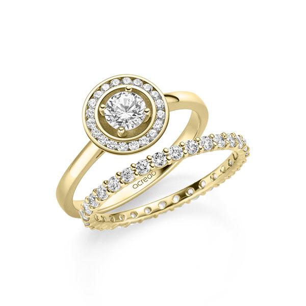 Verlobungsring Diamantring 0,56 ct. G SI & tw, si Gelbgold 585