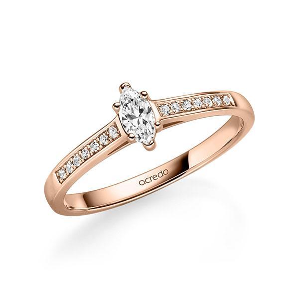 Verlobungsring Diamantring 0,27 ct. tw, vs & tw, si Rotgold 585