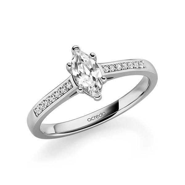 Verlobungsring Diamantring 0,57 ct. tw, vs & tw, si Graugold 585