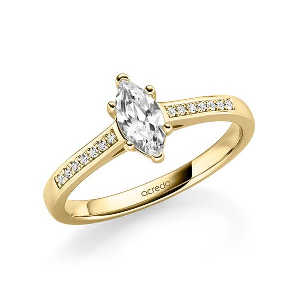 Verlobungsring Diamantring 0,57 ct. tw, vs & tw, si Gelbgold 585