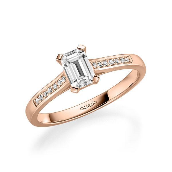 Verlobungsring Diamantring 0,87 ct. tw, vs & tw, si Rotgold 585