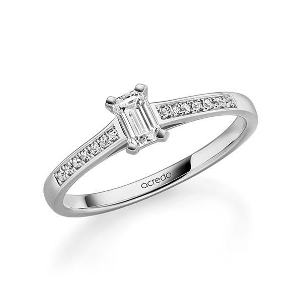 Verlobungsring Diamantring 0,47 ct. tw, vs & tw, si Graugold 585