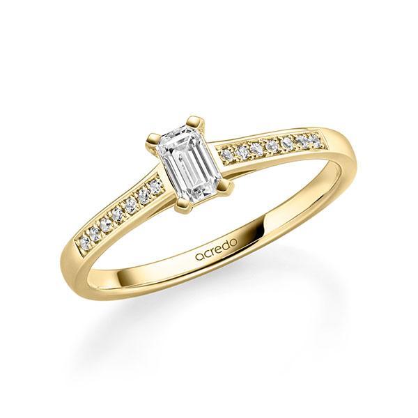 Verlobungsring Diamantring 0,47 ct. tw, vs & tw, si Gelbgold 585