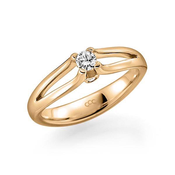 Verlobungsring Diamantring 0,15 ct. tw, vs & tw, si Roségold 585