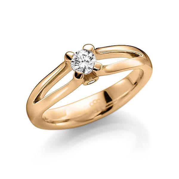 Verlobungsring Diamantring 0,25 ct. tw, vs & tw, si Roségold 585