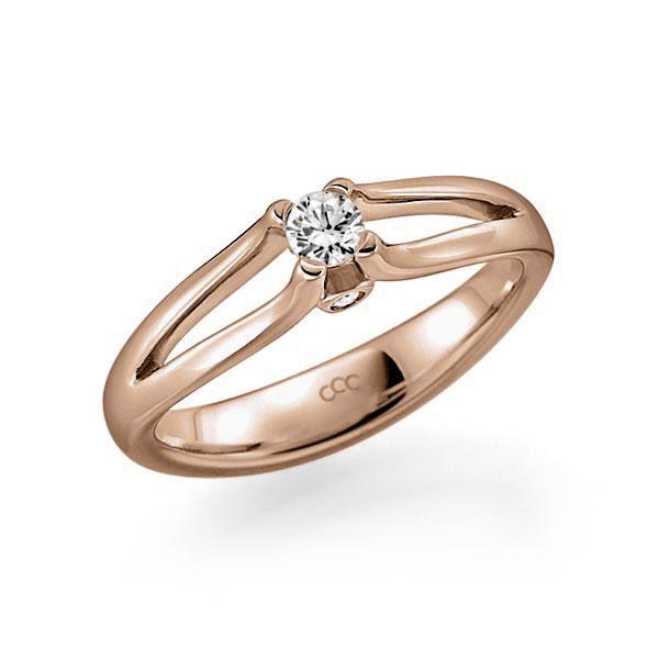 Verlobungsring Diamantring 0,15 ct. tw, vs & tw, si Rotgold 585