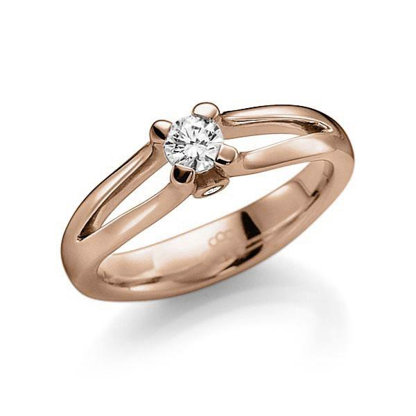 Verlobungsring Diamantring 0,25 ct. tw, vs & tw, si Rotgold 585