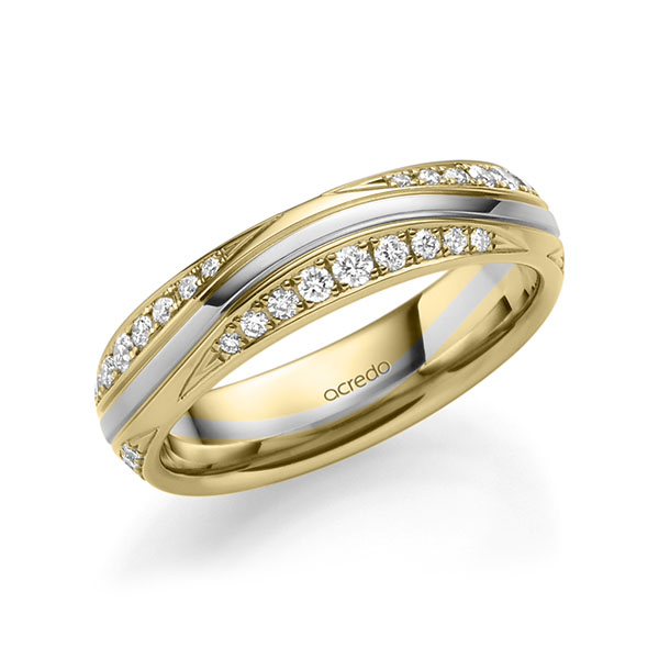 Trauringe Gelbgold 585 Weißgold 585 mit 0,576 ct. tw, si