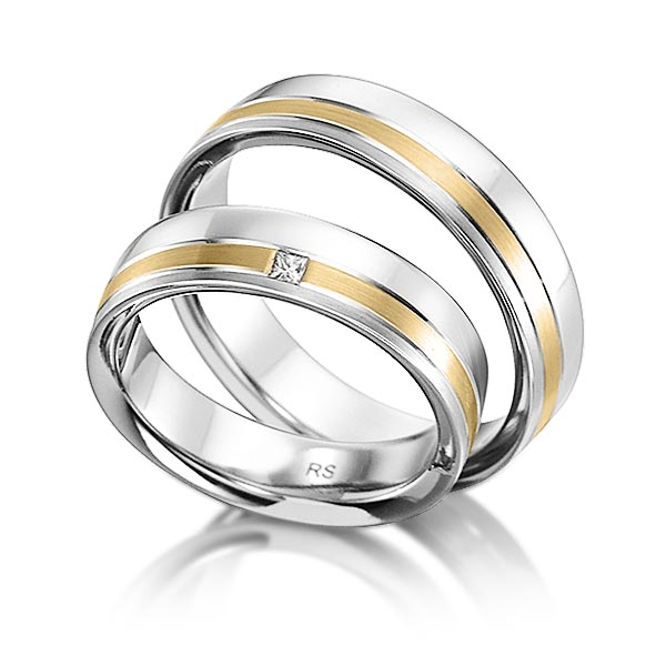 Trauringe Rotgold 585 mit 0,03 ct. tw, vs