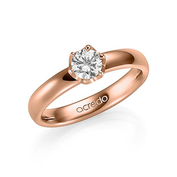 Trauringe Rotgold 585 mit 0,5 ct. G VS