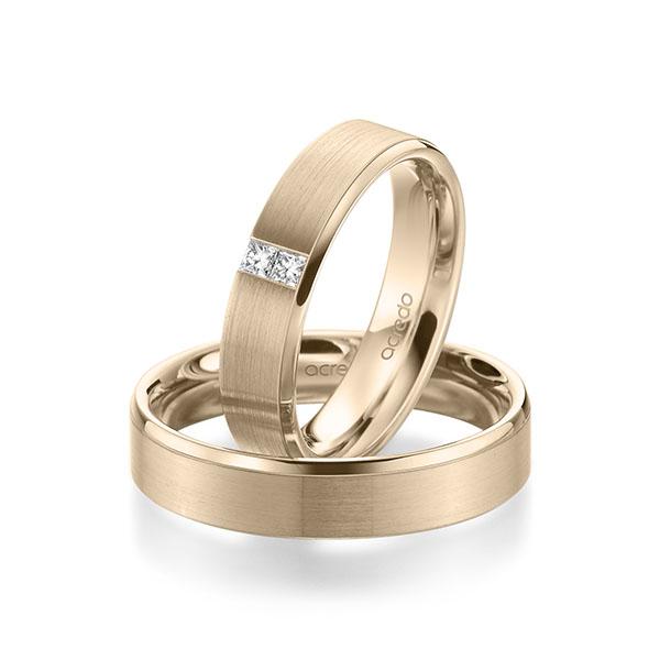Trauringe Signature Gold 585 mit 0,1 ct. tw, si