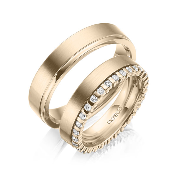 Trauringe Signature Gold 585 mit 0,465 ct. tw, si