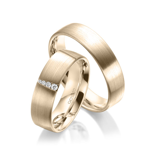 Trauringe Signature Gold 585, Signature Gold 585 mit 0,048 ct. tw, si