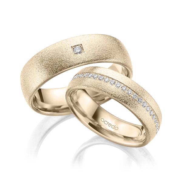 Trauringe Signature Gold 585, Signature Gold 585 mit 0,384 ct. tw, si