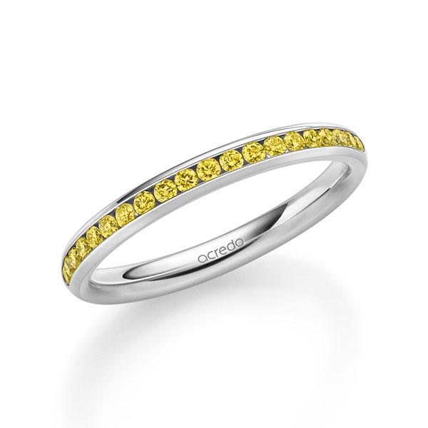 Trauringe Weißgold 585, Weißgold 585 mit 0,285 ct. Canary Yellow