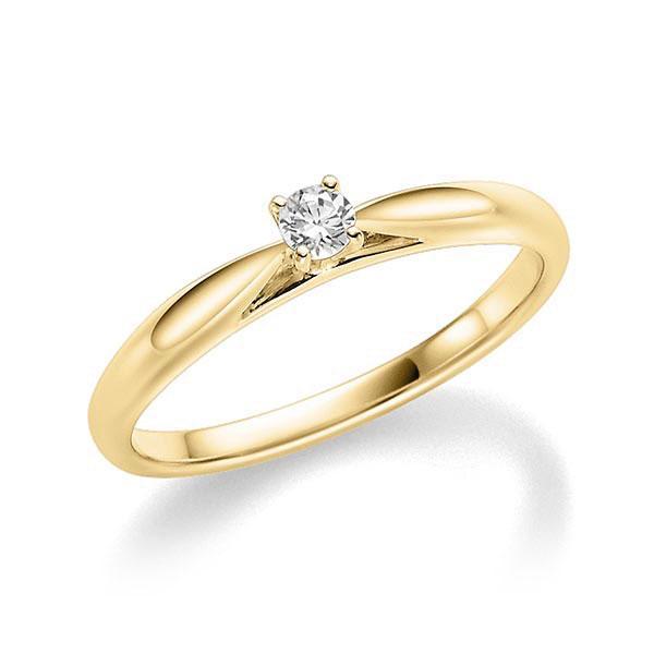 Verlobungsring Diamantring 0,08 ct. tw, si Gelbgold 585