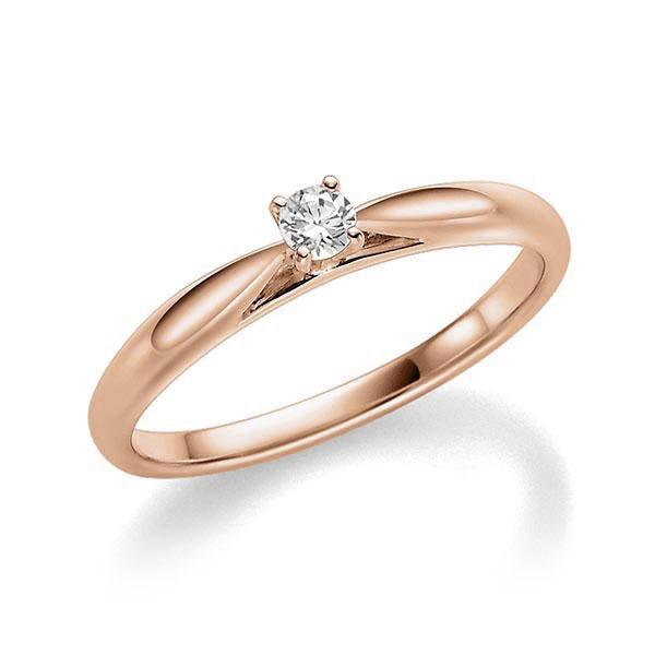 Verlobungsring Diamantring 0,08 ct. tw, si Rotgold 585