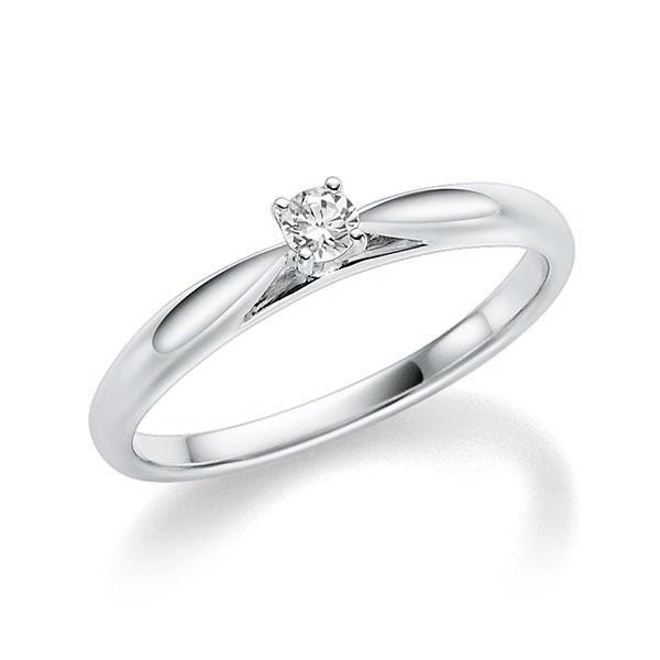 Verlobungsring Diamantring 0,08 ct. tw, si Weißgold 585