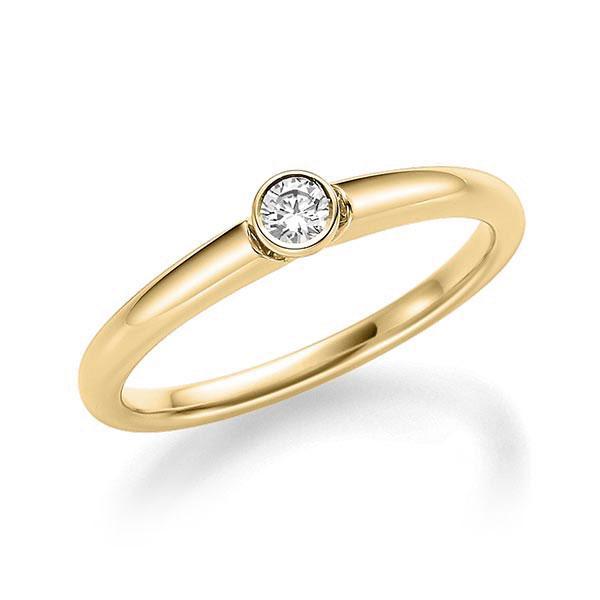 Verlobungsring Diamantring 0,12 ct. tw, si Gelbgold 585