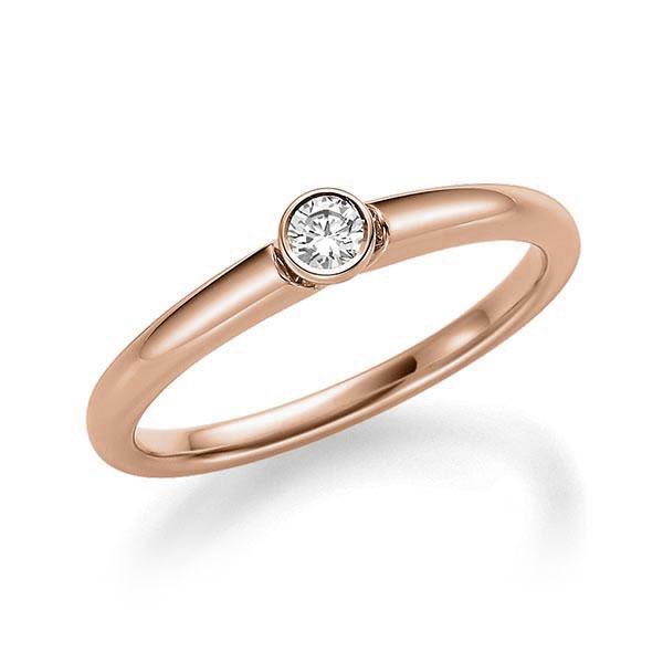 Verlobungsring Diamantring 0,12 ct. tw, si Rotgold 585
