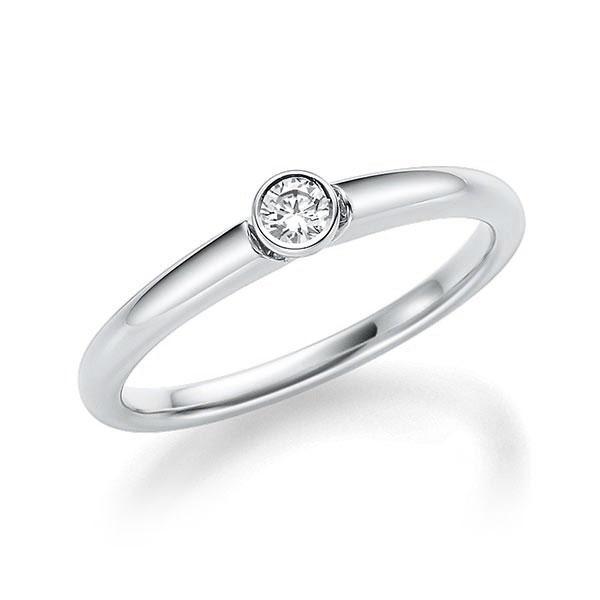 Verlobungsring Diamantring 0,12 ct. tw, si Weißgold 585