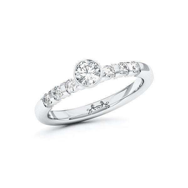 Verlobungsring Diamantring 0,3 ct. tw, si Weißgold 585