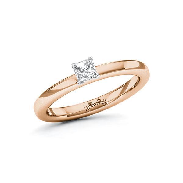 Verlobungsring Diamantring 0,3 ct. tw, vs Rotgold 585 Weißgold 750