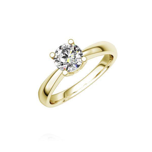 Verlobungsring Diamantring 0,4 ct. tw, si Gelbgold 750