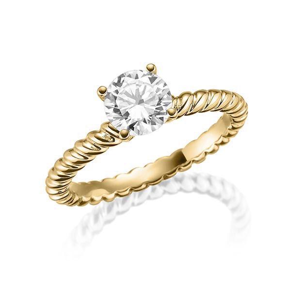 Verlobungsring Diamantring 0,4 ct. tw, vs Gelbgold 750