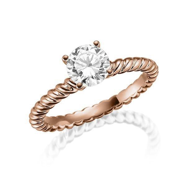 Verlobungsring Diamantring 0,4 ct. tw, vs Rotgold 750