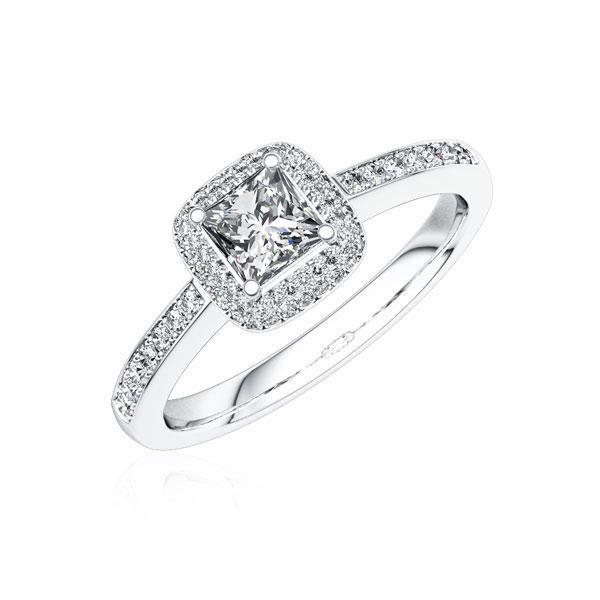 Verlobungsring Diamantring 0,4 ct. tw, vs Weißgold 750