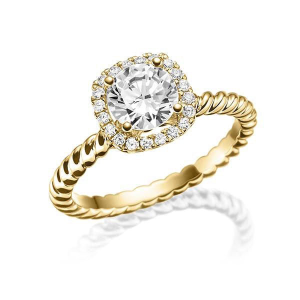 Verlobungsring Diamantring 0,7 ct. tw, vs Gelbgold 750 Steinberg - Individuals