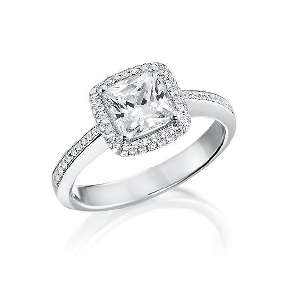 Verlobungsring Diamantring 0,7 ct. tw, vs Weißgold 750