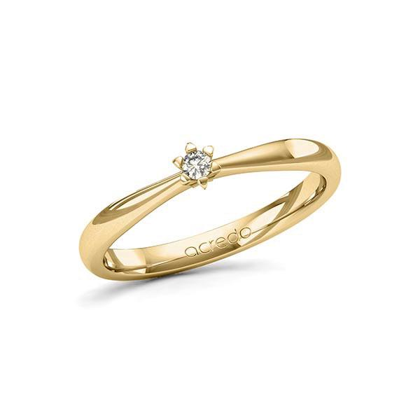 Verlobungsring Diamantring 0,05 ct. tw, si Gelbgold 585