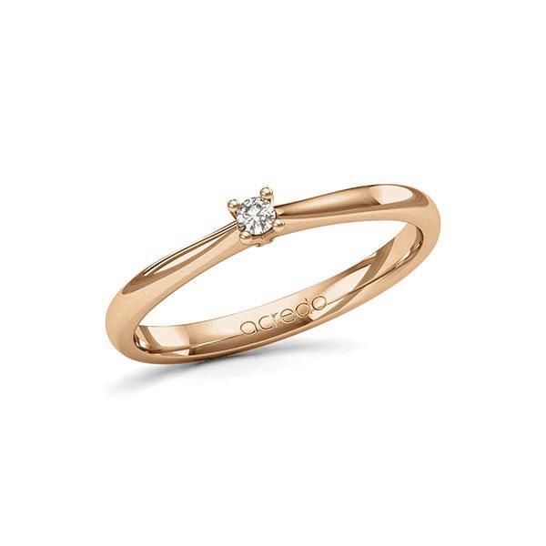Verlobungsring Diamantring 0,05 ct. tw, si Roségold 585