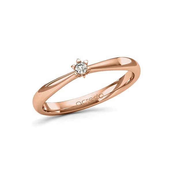 Verlobungsring Diamantring 0,05 ct. tw, si Rotgold 585