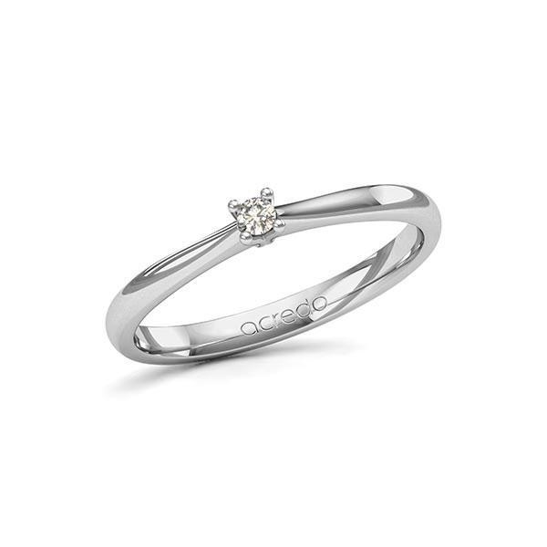 Verlobungsring Diamantring 0,05 ct. tw, si Weißgold 585