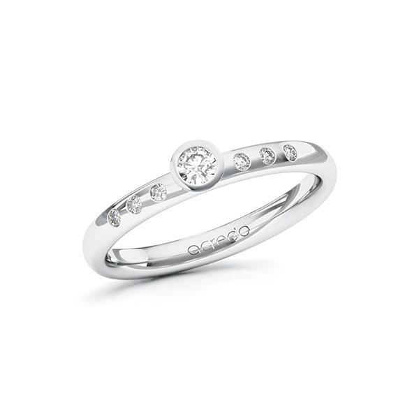 Verlobungsring Diamantring 0,148 ct. tw, si Weißgold 585
