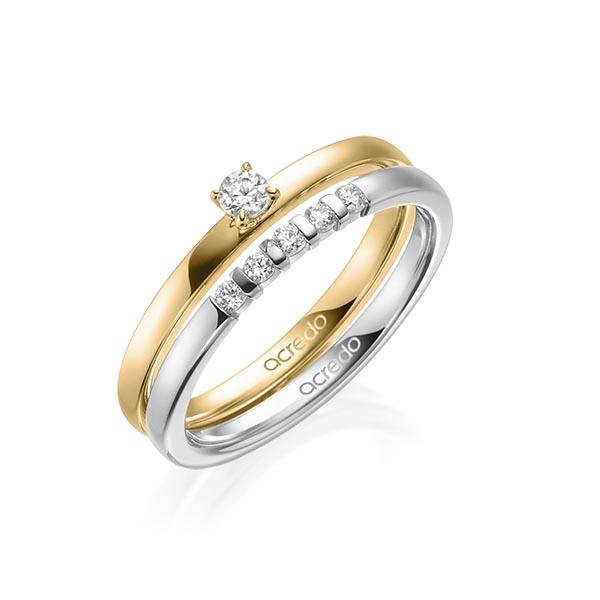 Verlobungsring Diamantring 0,15 ct. tw, si Gelbgold 750