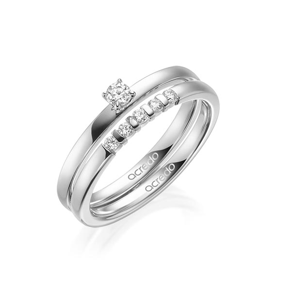 Verlobungsring Diamantring 0,15 ct. tw, si Platin 950