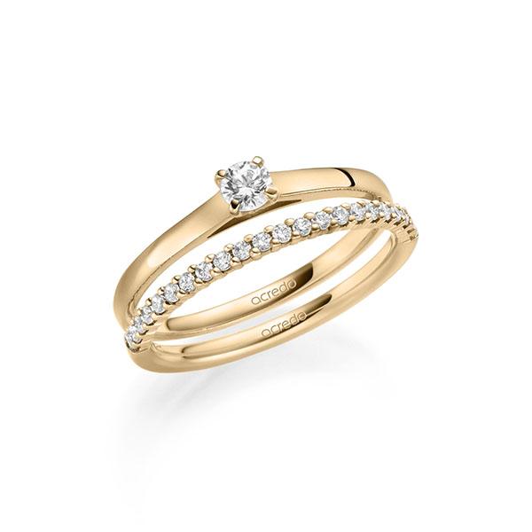 Verlobungsring Diamantring 0,15 ct. tw, si Roségold 585